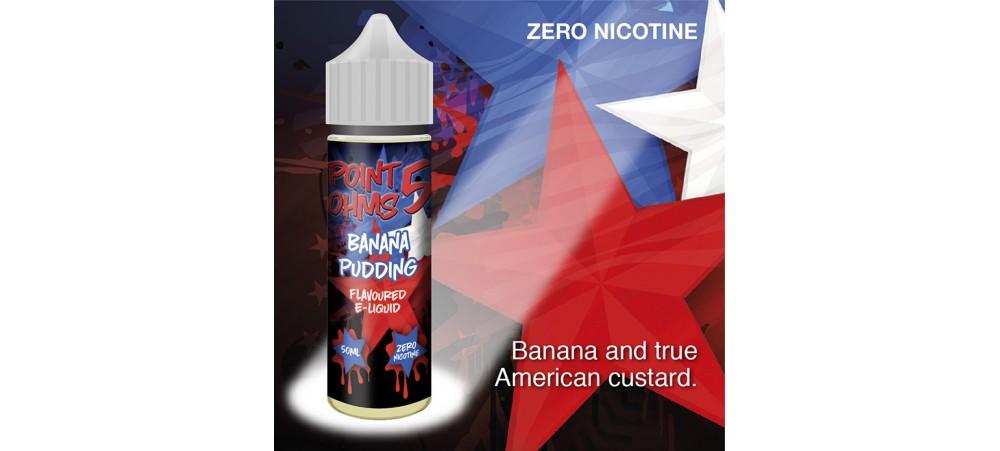 Banana Pudding Flavour MAX VG E-Liquid - Zero Nicotine - 50ML - Point Five Ohms - Short Fill