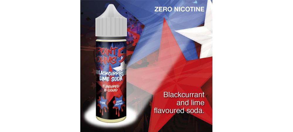 Blackcurrant Lime Soda Flavour MAX VG E-Liquid - Zero Nicotine - 50ML - Point Five Ohms - Short Fill
