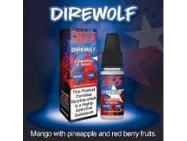 CLEARANCE BEST BEFORE DATE Aug 2019 -  6MG Direwolf (Mango, Pineapple & Red Berries) Flavour E-Liquid 10ml - Point 5 Ohms