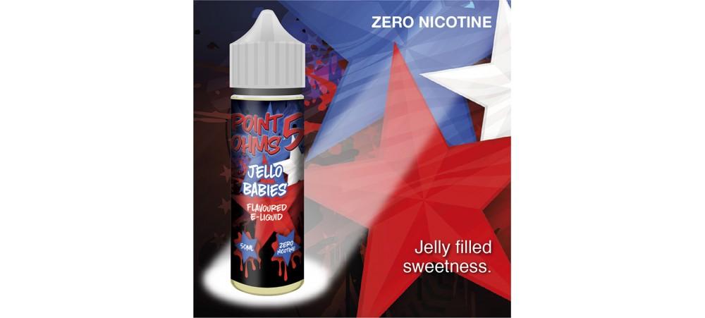 Jello Babies Flavour MAX VG E-Liquid - Zero Nicotine - 50ML - Point Five Ohms - Short Fill