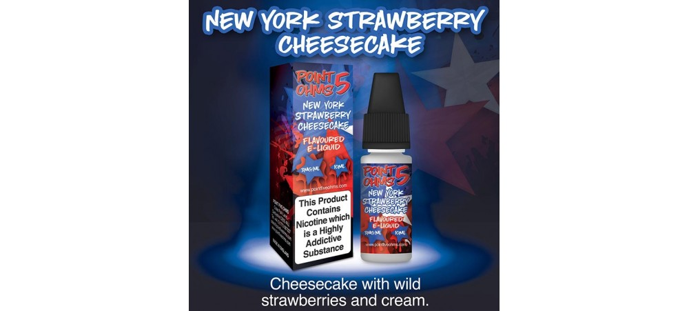 New York Strawberry Cheesecake Flavour 50VG 50PG - Point Five Ohms - 12MG