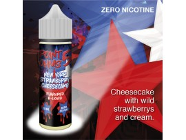 New York Strawberry Cheesecake Flavour MAX VG E-Liquid - Zero Nicotine - 50ML - Point Five Ohms - Short Fill