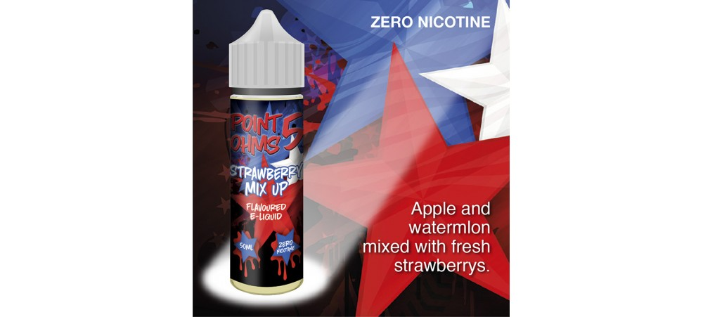 Strawberry Mix Up Flavour MAX VG E-Liquid - Zero Nicotine - 50ML - Point Five Ohms - Short Fill