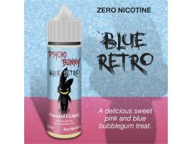 Blue Retro (Pink & Blue Bubblegum) MAX VG E-Liquid - Zero Nicotine - 50ML Short Fill Bottle - Psycho Bunny