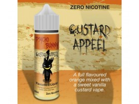 Custard Appeel (Orange, Vanilla Custard) MAX VG E-Liquid - Zero Nicotine - 50ML Short Fill Bottle - Psycho Bunny