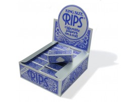 Rips Blue king size rolling papers *53mm Wide & 5M Long* - 3 / 6 / 12 / 24 Rolls