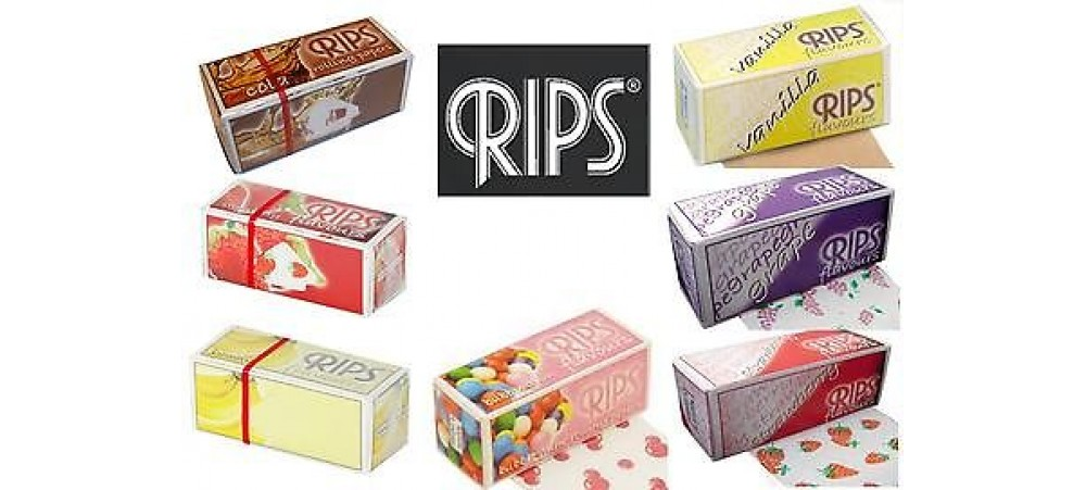 Rips Slim Flavoured Rolling Papers - 3 / 6 / 12 / 24 Rolls