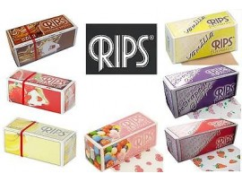 Rips Slim Flavoured Rolling Papers *Each Roll Approx 4M Long* - 3 / 6 / 12 / 24 Rolls - Various Flavours Available