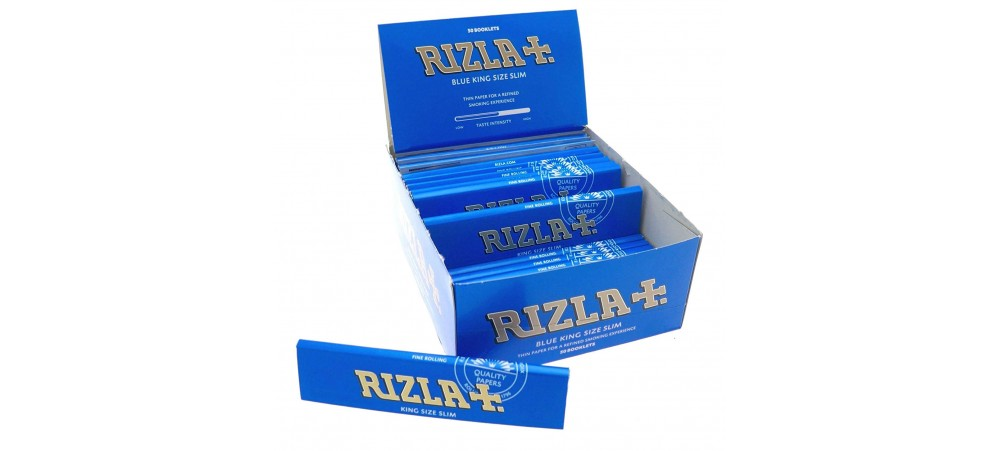 Rizla Blue King Size Slim Rolling Papers - 1 / 5 / 10 / 15 / 20 / 50 Booklets