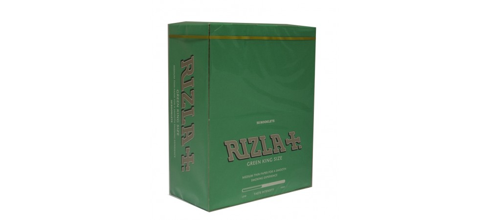 Rizla Green King Size Rolling Papers - Box of 50 Booklets