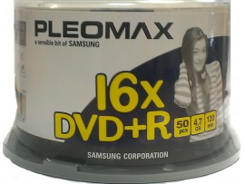 Samsung / Pleomax DVD+R 4.7 GB x16 Speed - 50 Pack Spindle