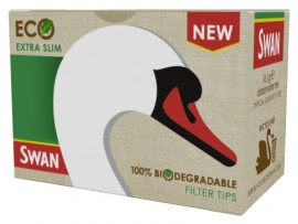 Swan Loose Eco Extra Slim 100% biodegradable Filter Tips - 200 Filters per pack - 5 (1000 Filters) / 10 (2000 Filters) Packs