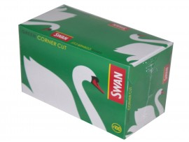 Swan Green (Corner Cut) Regular Rolling Papers - 5 / 10 / 20 / 100 Booklets