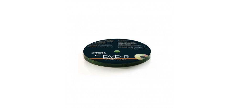 TDK T78671 DVD-R 5 Pack Shrink Wrapped