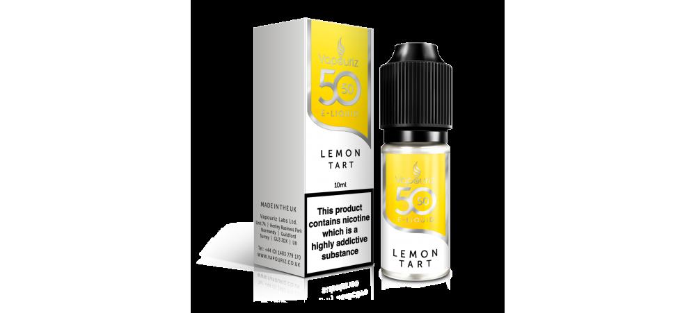 Lemon Tart 50/50 Universal E-Liquid 10ml - Vapouriz - 50VG 50PG - 3mg / 6mg / 12mg / 18mg