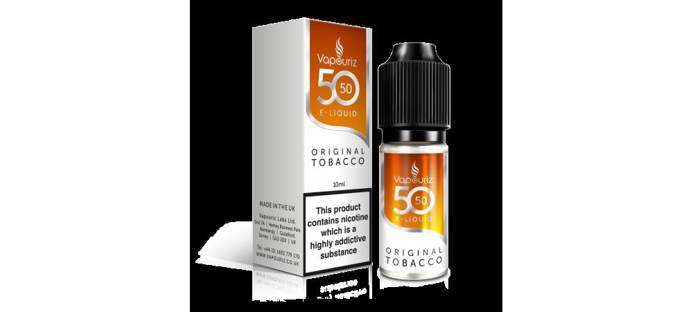 Original Tobacco 50/50 Universal E-Liquid 10ml - Vapouriz - 50VG 50PG - 3mg / 6mg / 12mg / 18mg