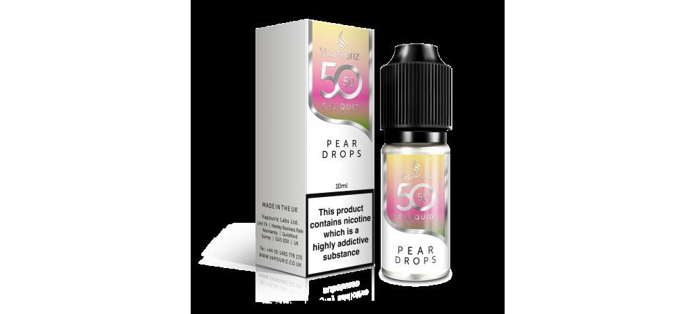 Pear Drops 50/50 Universal E-Liquid 10ml - Vapouriz - 50VG 50PG - 3mg / 6mg / 12mg / 18mg