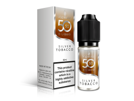 Silver Tobacco 50/50 Universal E-Liquid 10ml - Vapouriz - 50VG 50PG - 3mg / 6mg / 12mg / 18mg