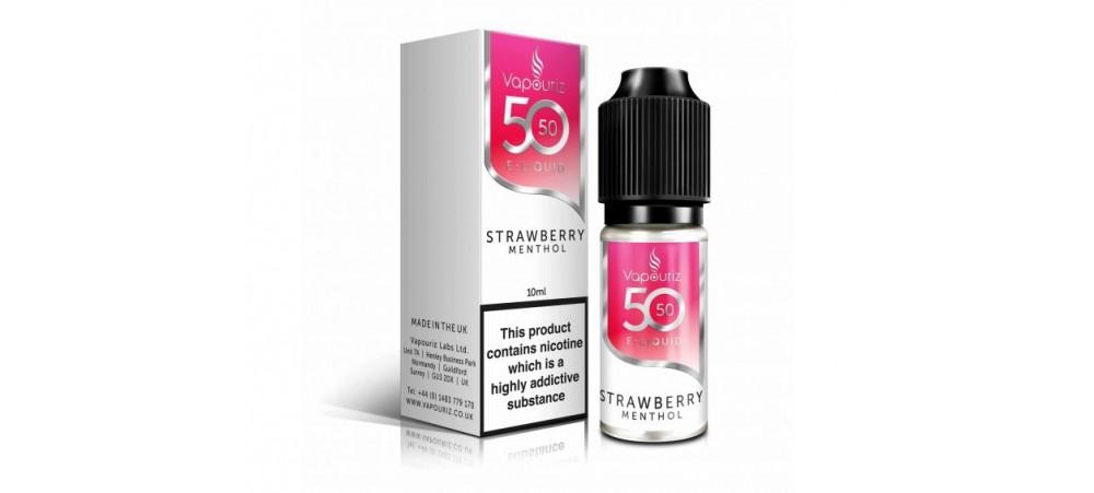 Strawberry Menthol 50/50 Universal E-Liquid 10ml - Vapouriz