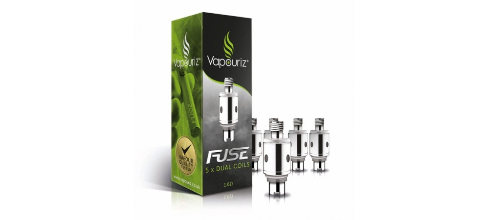 Vapouriz Fuse Dual Coil 1.6OHM Replacement Coils/Heads - Pack of 5
