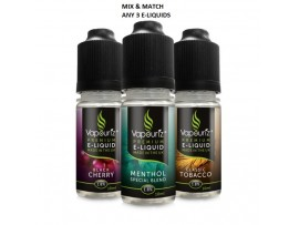 Any 3 E-Liquid - mix & match strength & flavour - Vapouriz