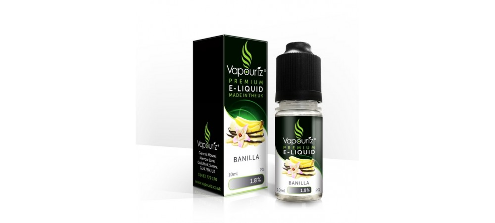 Banilla (Banana & Vanilla) Flavour 18MG E-Liquid 10ml - Vapouriz - WHILE STOCK LASTS