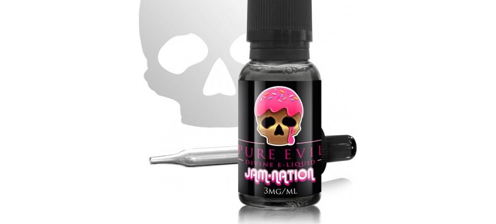 Jam-Nation Pure Evil SUB OHM E Liquid 20ml Dripper - WHILE STOCK LASTS - 6MG