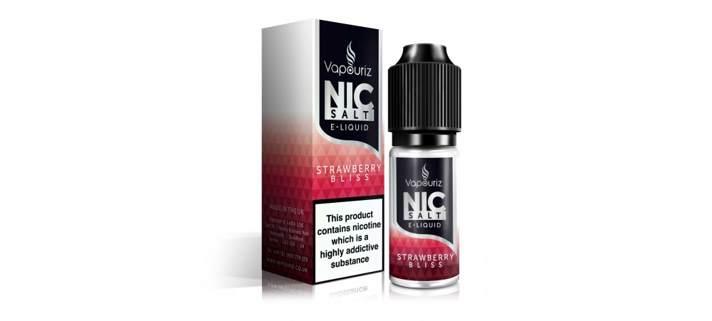 Strawberry Bliss Nic Salts E-Liquid - Vapouriz  - 10mg / 20mg