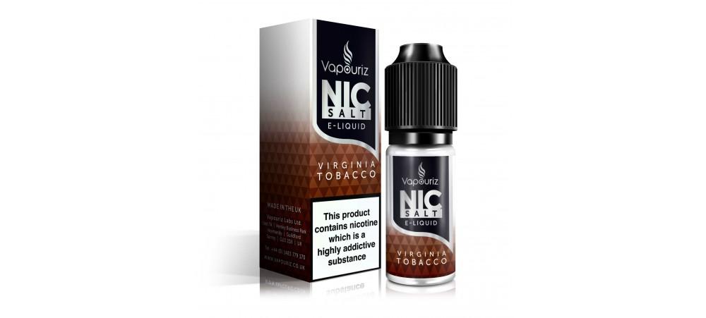 Vapouriz Virginia Tobacco Nic Salts E-Liquid