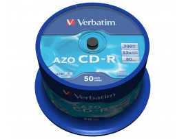 Verbatim 43343 CD-R AZO 700mb 52x - 50 Pack Spindle