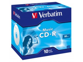 Verbatim 43365 CD-R Music Audio 80min - 10 Pack Jewel Case - Multipack deal available