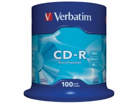 Verbatim 43411 CD-R Extra Protection 52x - 100 Pack Spindle
