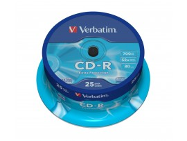Verbatim 43432 CD-R Extra Protection 80min 52x - 25 Pack Spindle Multipack deal available