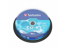 Verbatim 43437 CD-R Extra Protection 80min 52x - 10 Pack Spindle