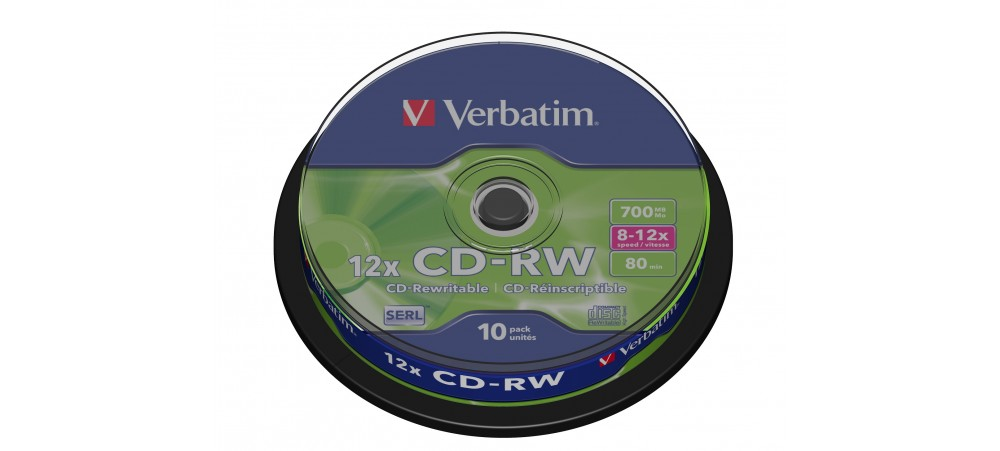 Verbatim 43480 CD-RW 12x - 10 Pack Spindle