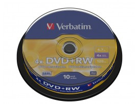 Verbatim 43488 DVD+RW 4x - 10 Pack Spindle