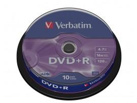 Verbatim 43498 DVD+R 16x Non-Print - 10 Pack Spindle