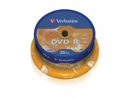 Verbatim 43522 DVD-R AZO 16x 4.7GB - 25 Pack Spindle
