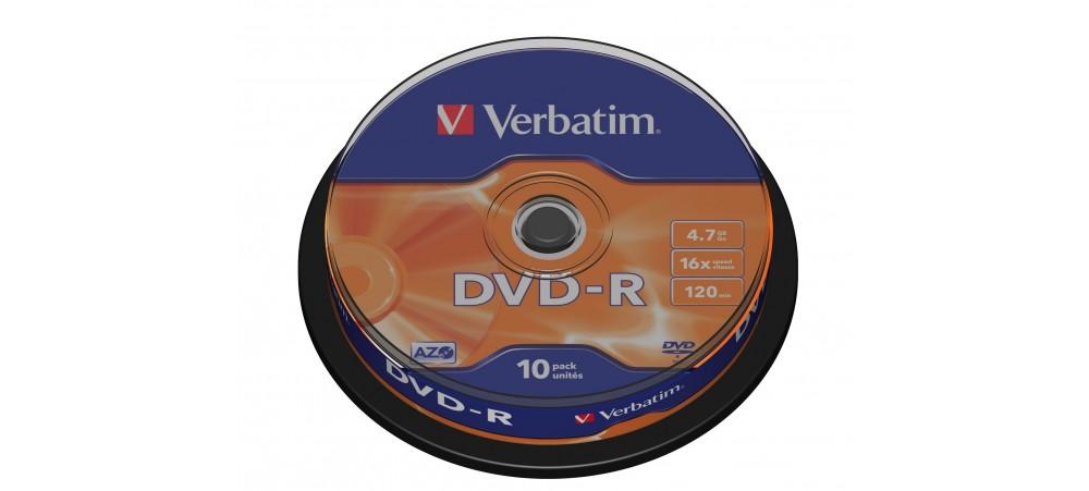 Verbatim 43523 DVD-R AZO 16x 4.7GB - 10 Pack Spindle