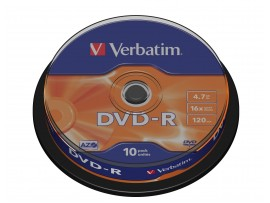 Verbatim 43523 DVD-R AZO 16x 4.7GB - 10 Pack Spindle