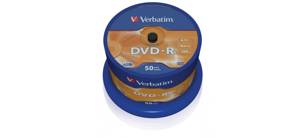 Verbatim 43548 DVD-R 16x  - 50 Pack Spindle