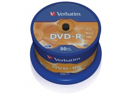 Verbatim 43548 DVD-R 16x  - 50 Pack Spindle