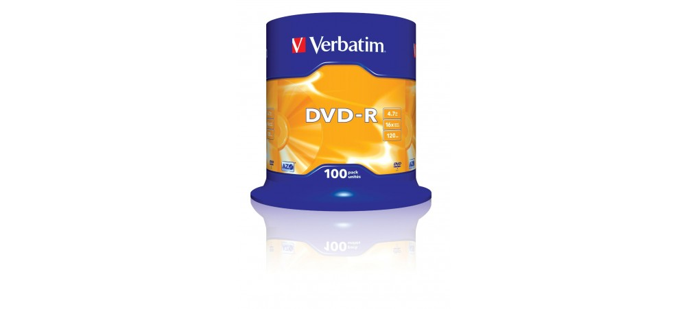 Verbatim 43549 DVD-R 16x  - 100 Pack Spindle