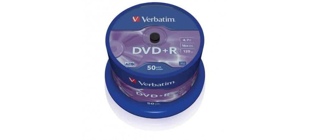 Verbatim 43550 DVD+R 16x 4.7GB-  50 Pack Spindle