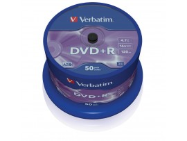 Verbatim 43550 DVD+R 16x 4.7GB-  50 Pack Spindle