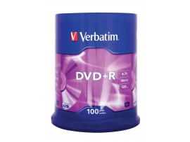 Verbatim 43551 DVD+R 16x 4.7GB Matt Silver - 100 Pack Spindle