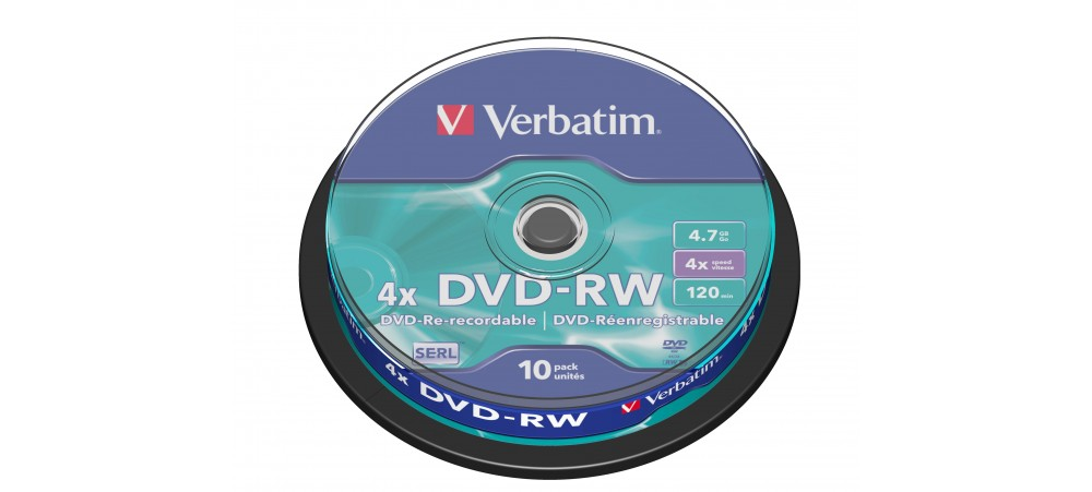 Verbatim 43552 DVD-RW 4x - 10 Pack Spindle