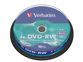Verbatim 43552 DVD-RW 4x - 10 Pack Spindle