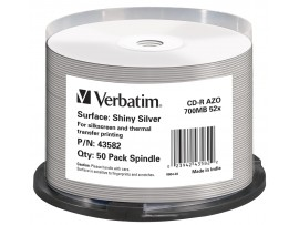 Verbatim 43582 CD-R  52X 700MB Printable - 50 Pack Spindle (No ID Brand)