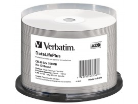 Verbatim 43756 CD-R 700MB 52x 'Super Azo' Printable - 50 Pack Spindle